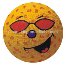 Promotional colorful street rubber cartoon kids basketballs,basketball for training/competition 7
