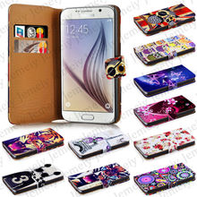 Mobile Phone Cover Flip Leather For Samsung Galaxy S6 Case With Two Slot Card