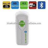 RK3066 Mini PC TV box Bluetooth Dual Core UG007 wifi Android 4.1 TV BOX HDMI Media Player 8G