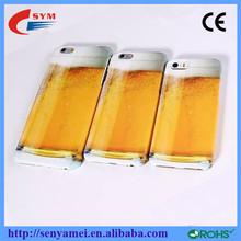 2015 Most popular beer liquid plastic case for iphone 6, for apple 6 plus iphone