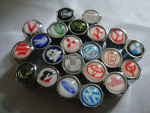 CY- Metal Car Brands Logo Tire Valve Caps
