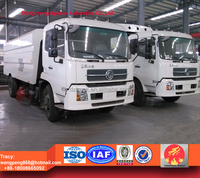 Dongfeng tianjin 7200liters dustbin truck street sweeper, mobile street sweeper truck for sale