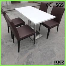 restanrant di superficie solido tavolo da pranzo con base in acciaio inox