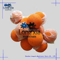 "2""-8"" concrete pump Sponge cleaning ball, concrete pump rubber cleaning ball, Concrete Pump spare parts Cleaning/Sponge Ball"