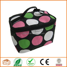 Cute Cosmetic Makeup Bag Case Retro Polkadots Green Pink Small Polka Dot