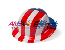Cheap American flag plastic hats for national day decoration