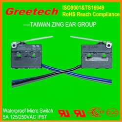 zing ear types of micro switches for electronic wire harness, 3 pin connector wire harness