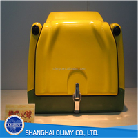 Yellow fiberglass food delivery box/Pizza delivery box for scooter