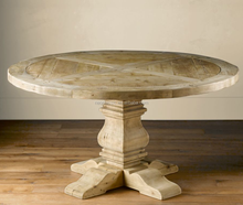 Wholesale Antique Round Top Wooden Trestle Dining Table