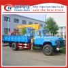 Dongfeng desiel euro 3 4 ton telescopic boom truck with crane