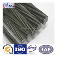 ASTM A416 12.7mm pc strand pc steel strand wire for construction