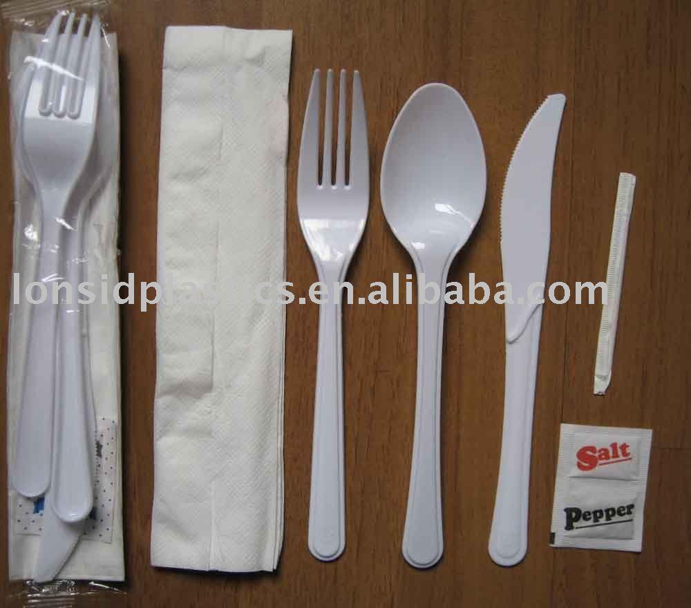 5.5g Peso Pesante Monouso Stoviglie di Plastica Set-Coltello, Forcella, Cucchiaio ed ecc