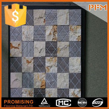 hot sale natural well polished dark emperador trapezoid mosaic tile