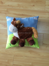 2015 new design 3D printed animal shape kids cushion /kids pillow
