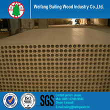 Hollow particle board/tubular chipboard for door core