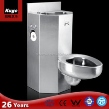 304 CE Certificated Stainless steel one piece prison toilet