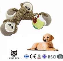Hot selling Puppy chew knot play Toy Cotton Braided Bone Rope