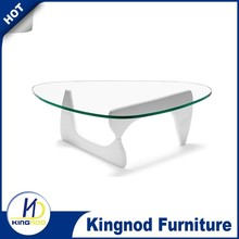Glass top mdf wooden coffee table, wood coffee table