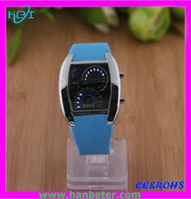 Popular men digital watches pilot watch with blue/red led display