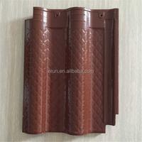 Jiangsu discount building material color-coated bent clay tiles