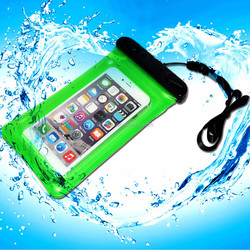 IPX8 waterproof phone bag for iphone plus 6 with neck strap