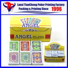 High Quality Custom Single sets poker set card ANGEL 100% plastic playing card printing