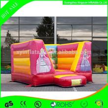 Mayor de la princesa casa de brinco inflables para el partido