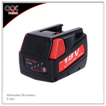 Milwaukee 48-11-1840 M18 XC RED LITHIUM 18V LITHIUM-ION Corldess Drill Battery milwaukee 18v batteries