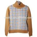 otoño- verano infantil baby boy suéter de niño niña de punto para bebés suéter de cuello alto suéter de los niños ropa de abrigo