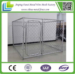 2.3x2.3x1.8 dog enclosure Chain Link fence Dog Kennel with full roof