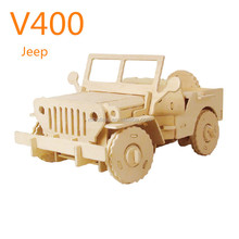 2015 new toy 3d wooden puzzle rc car rc jeep