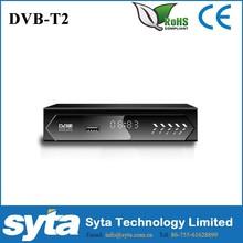 HD DVBT2 Set Top Box with smaller case in metal HD 1080P Mstar chipset for Uganda Ghana Kenya