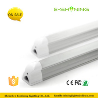Isolating driver indoor housing transparent or milky cover T5 0.6m led tube light
