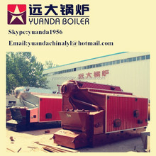 Double drum water tube industrial saturated steam cashew shell/husk boiler