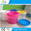 Heat transfer printing logo plastic buckets for food packing with new pp
