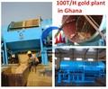 Planta de lavado de oro /centrífuga /canelón /línea de procesamiento de oro sacudiendo la tabla