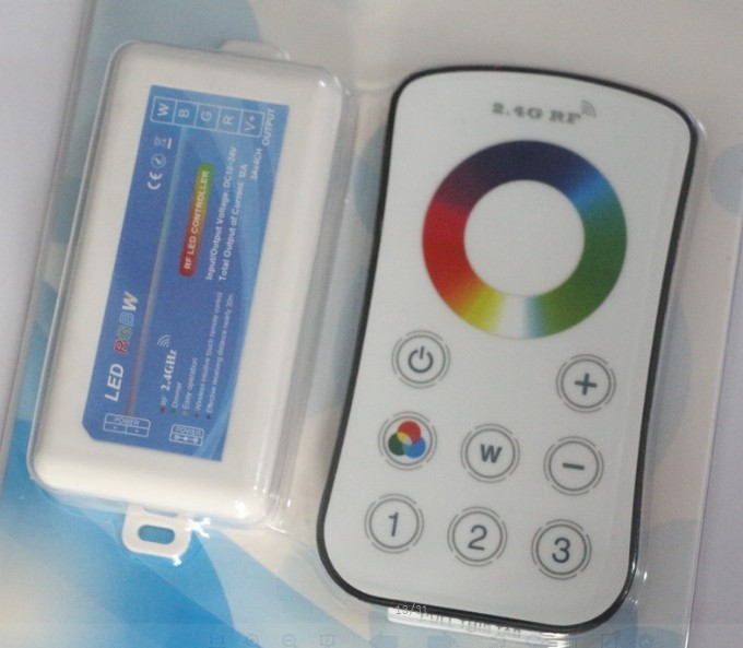 2.4G Touch RF Controller Dimmer LED RGBW Remote Wireless for RGB Light Strip