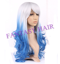 hot style synthetic ombre wig popular color Ombre synthetic hair wig ombre color long synthetic wig