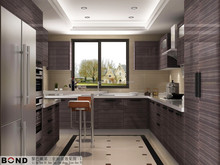 New mordern style Lebanon second plan PVC wear plate surface morning table size customize kitchen furniture kitchen cabinet