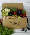 La caja de cartón corrugado para las frutas y la verdura