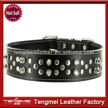 China manufacturer new dog collar charms wholesale spiked leather dog collars