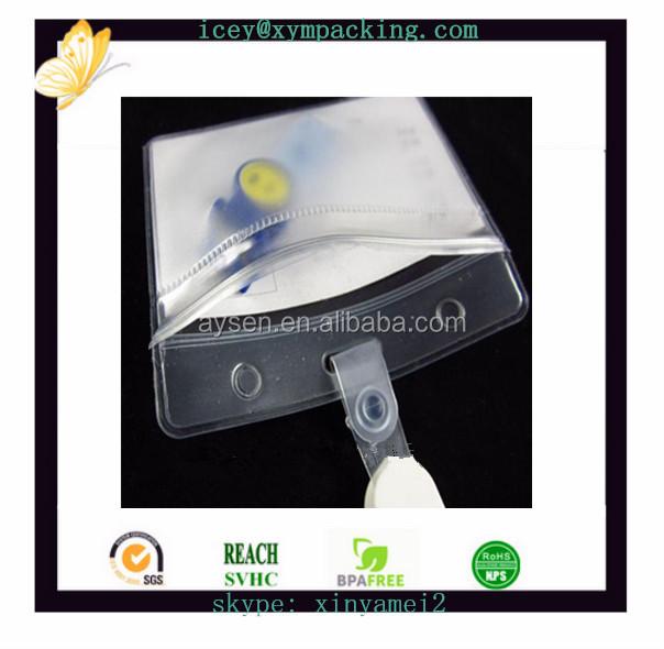 neuer Entwurf PVC-Identifikation-Kartenhalter mit Aufhängerlöchern