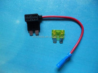 100 sets(100pcs fuse tap+100pcs 15Afuse) - Add A Circuit Fuse Tap Piggy Back Standard Blade Fuse Holder ATO ATC 12v 24v