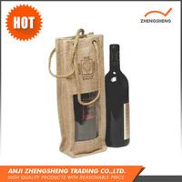 Natural Color Biodegradable Jute Wine Tote Bags