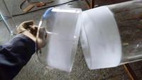 large quartz glass tube with caps