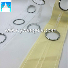 Popular high quality and strong contains gold and silver eyelet ring white tape curtain accessories