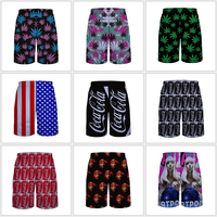 DBT1# Wholesale 2015 new style beach surf pants surfing swimming shorts Sublimation printing mens board shorts