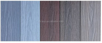 Rotproof and non fading and long warranty and nature wood grain co-extrusion decking board