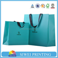 2015 wholesale decorative luxury recyclable fashion gift paper bags with your own logo