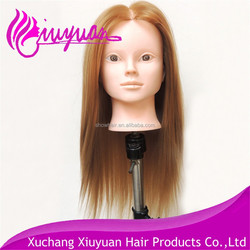 Top quality synthetic hair salon training mannequin head,training head for hairdressers wholesale